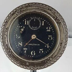 Antique Car Clock Waltham, working, made in united states! rare clock