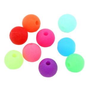 500-Neu-Mix-Matt-Acryl-Spacer-Kugeln-Perlen-Beads-Mehrfarbig-6mm-hello-jewelry