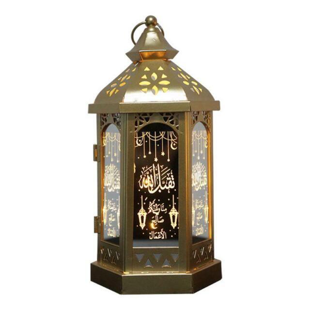 Eid Mubarak Ramadan LED Night Light Lantern Lamp Muslim Islam Hanging Decor Hot,