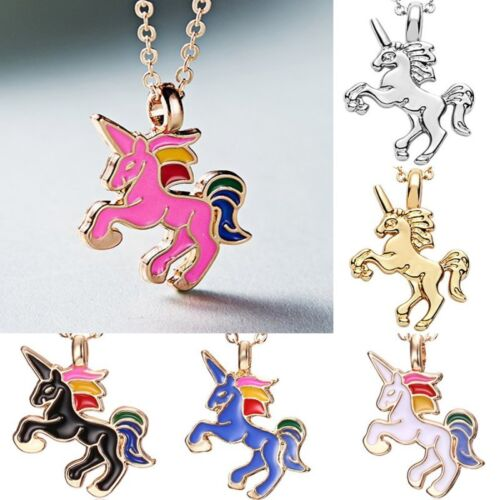 Fashion Woman Colorful Animal Horse Oil Pendant Necklace Wedding Jewelry Women