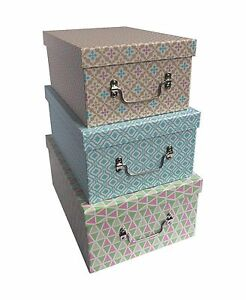 Image Is Loading Colourful Decorative Geo Design Home Office Shoe Storage