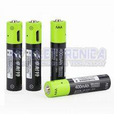 2 pcs ZNTER S17 1.5V 400mAh USB Rechargeable AAA Lipo Battery