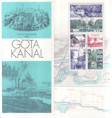 Schweden Faltblatt Nr Schweden 1065-70 Mit Sonderstempel Göta Kanal Mild And Mellow Europa