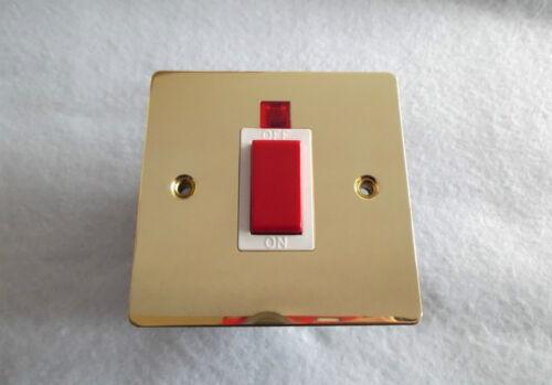 45Amp DP plat plat commutateur en laiton avec veilleuse