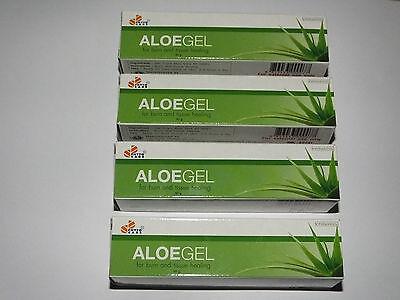 Skin Care Aloe Vera Healing Gel For Burns,scars,acne,sunburn,moisturizing 4 X 30g Tubes Without Return Acne & Blemish Treatments