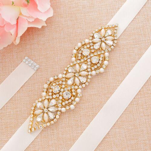 Handmade Dazzle Crystal Bridal Belt Brilliant Rhinestone Belts for Wedding Dress