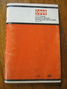 Case-1175-Tractor-Operator-039-s-manual-ORIGINAL