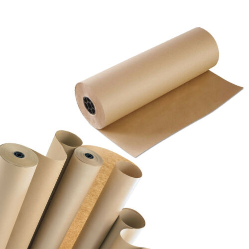 Brown Kraft Paper Roll 900mm x 200m Heavy Duty Wrapping Parcel Packing Roll