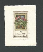 EXLIBRIS,113a, Irma Zeitner - Blumen auf Fensterbrett