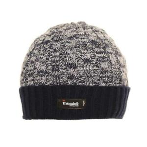 16f82743b Details about Mens Ladies Thermal Thinsulate Fleece Lined Beanie Ski Hat 3  Colours