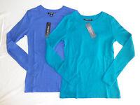 Women's Central Park West York Long Sleeve Shirt Scoop Neck Multi Size Color
