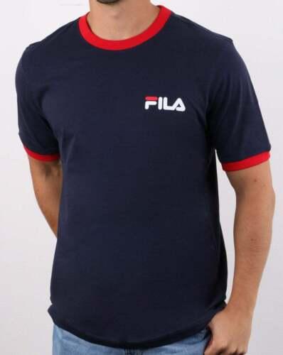 FILA Vintage ROSCO T Shirt Blu Marino//Rosso//Bianco