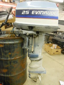 Details about 1975 Evinrude 25 HP horsepower electric start outboard boat  motor