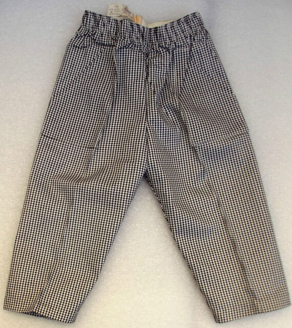 Vintage childrens clothes UNUSED 1950s check trousers Age 18-24 month TRIMSONA