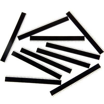 10pcs 40pin 2.54mm Single Row Straight Female Pin header Arduino