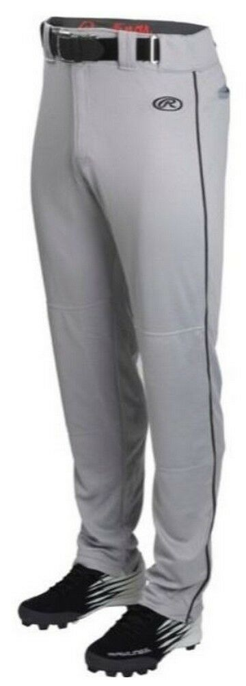 Rawlings Mens Adult Launch Baseball Pant Piped Semi Relaxed color Option LNCHSRP