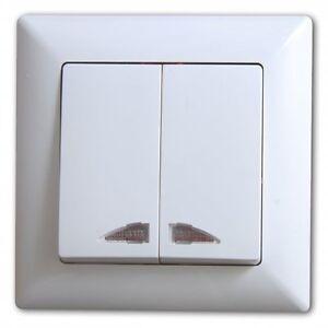 Visage-2-fach-Schalter-Serienschalter-mit-Beleuchtung-Weiss