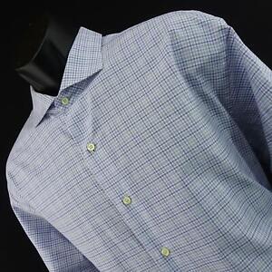 Mens-Brooks-Brothers-1818-Regent-Blue-Plaids-Dress-Shirt-Size-18-38-2XL-Casual