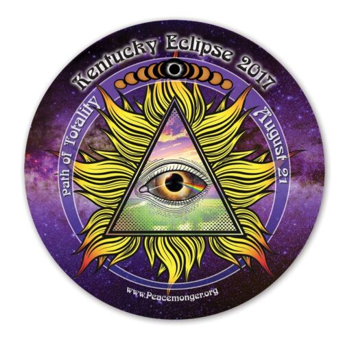 EC042 Kentucky All Seeing Eye Total Solar Eclipse 2017 Souvenir Sticker