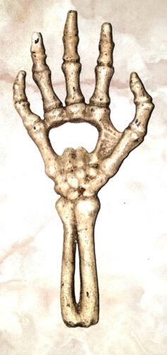 Cast Iron Skeleton Hand /& Forearm Beer Bottle Opener Skull