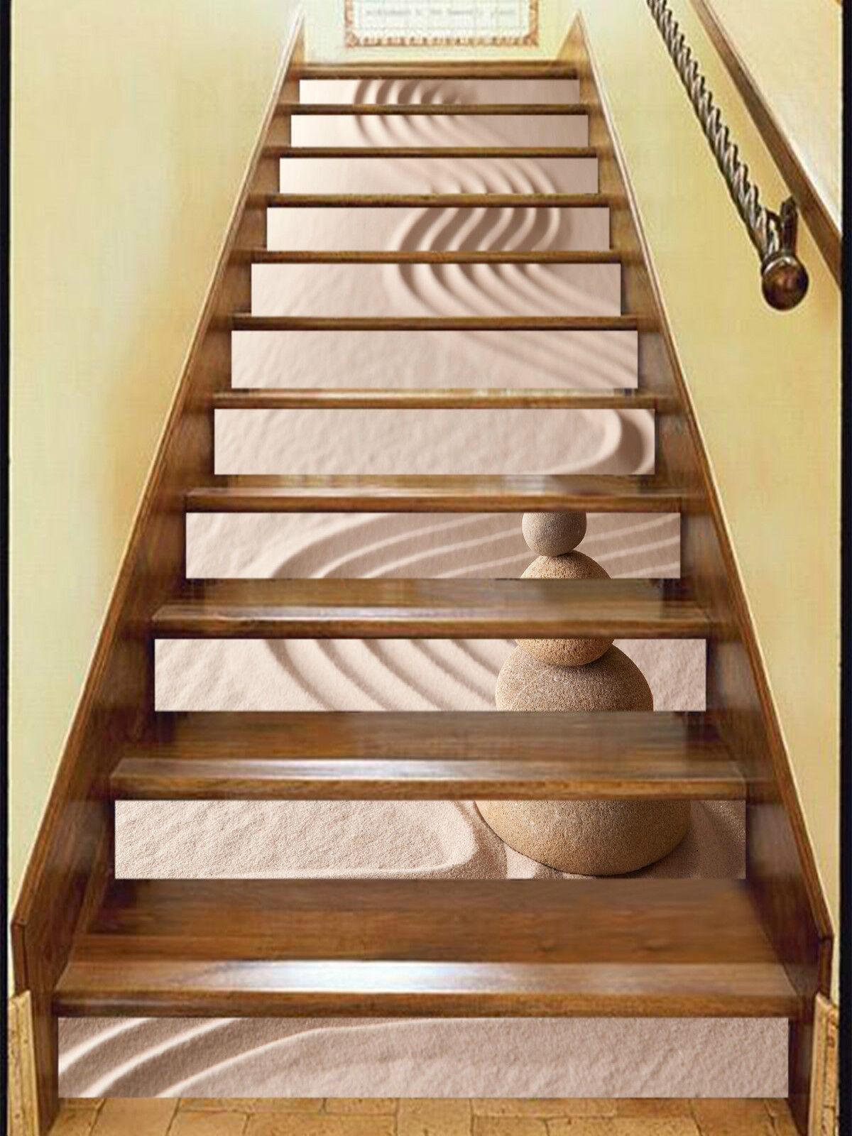 3D Sand Stein 536 Stair Risers Dekoration Fototapete Vinyl Aufkleber Tapete DE