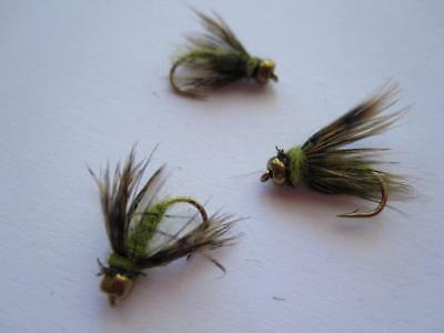 1 DZ D16-6 BEAD HEAD OCTOBER CADDIS PUPA NYMPHS   **WOW** SIZES AVAILABLE