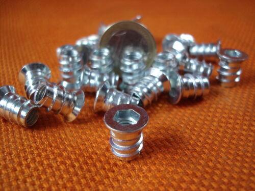 500 x  Einschraubmuffen Muffe Einschraubmuttern M6 mit Abdeckrand 6-Kant Antrieb