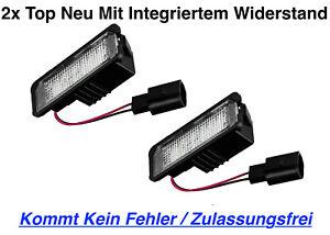 2x TOP Qualität LED Kennzeichenbeleuchtung Skoda Superb 3T4 (X18