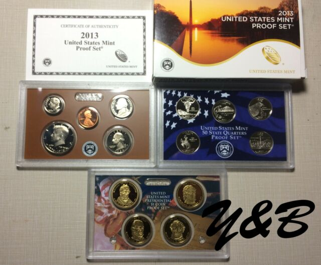 One of 1968 - 2015 Type U.S. mint S Proof set random 14 coins in case BEST GIFT