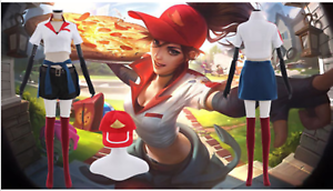 League Of Legends Lol Pizza Delivery Sivir Cosplay Costume Custom Made Ebay