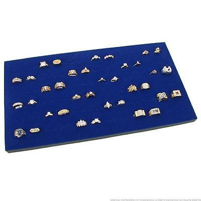 """1/"""" Stackable Jewelry Display Utility Tray w//Velvet 72 Ring Foam Pad Insert"""