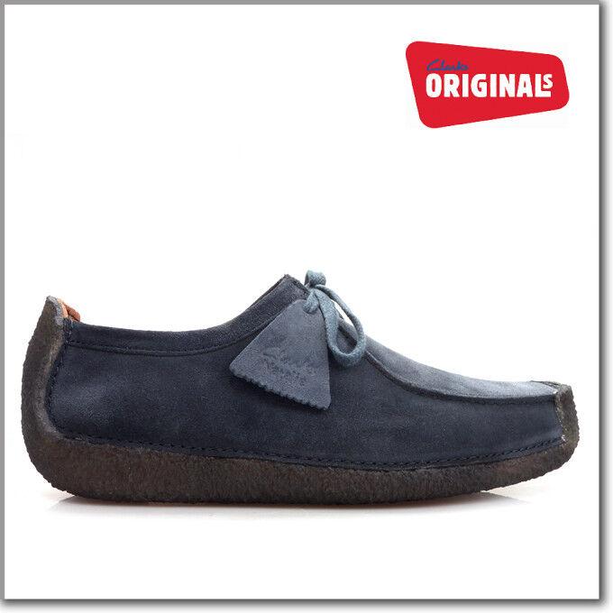 Clarks Original Mens Natalie Navy Suede , Casual shoes G