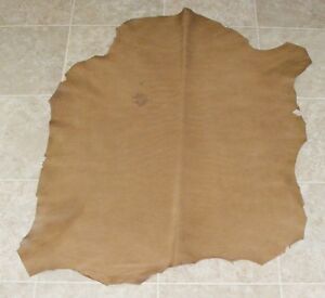 (SYA7294-1) Hide of Light Brown Lambskin Leather Hide Skin