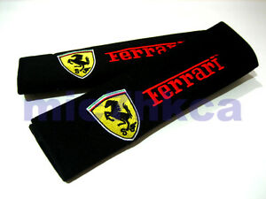 UK stock 2x soft car seat belt harness cushion shoulder cover pads for FERRARI