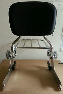 GéNéReuse New Detachable Backrest Sissy Bar And Rack For Harley Softail 2006up (200mm)