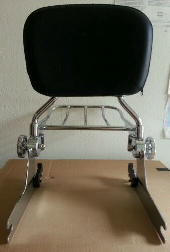 200mm New Detachable Backrest Sissy bar and rack for Harley Softail 2006up