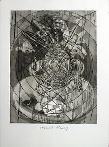 Dieter Roth/Heinrich C. nero-composizione (214 b5). a mano con firma acquaforte