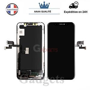 Ecran-Complet-Pour-IPhone-X-Noir-Vitre-Tactile-LCD-Sur-Chassis