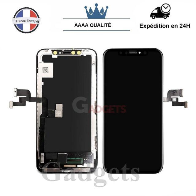 Ecran Complet Pour IPhone X Noir Vitre Tactile + LCD Sur Chassis