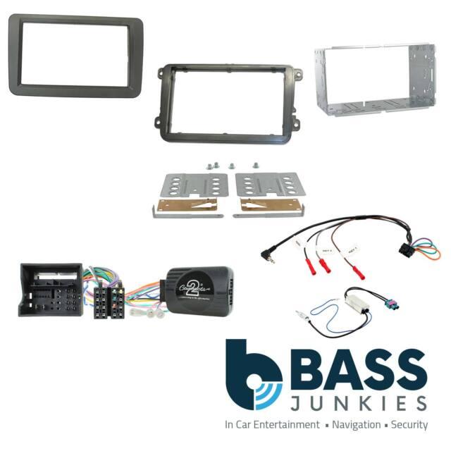 VW Jetta Car Stereo Double Din Fascia Steering Wheel Interface Kit CTKVW16