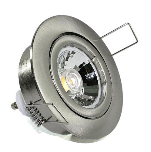 230Volt Deckenspot Bajonett IP20 GU10 inkl 7W = 52W COB LED Birne EEK A+