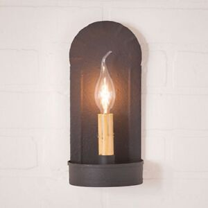 NEW! Primitive Country Rustic Small Metal Farmstead Taper Candle Sconce