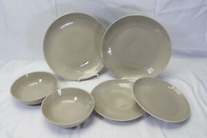 Royal-Doulton-Gordon-Ramsay-Maze-Taupe-Lot-of-6-Plates-Bowls
