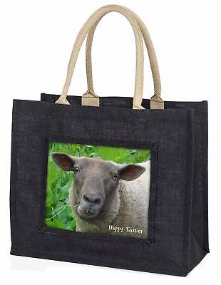 Frohe Ostern Schaf große schwarze Einkaufstasche Weihnachten