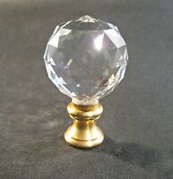 Lamp Finial-leaded Crystal Ball Lamp Finial W/solid Brass Dual Thread Base