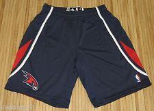 Adidas Authentic Mens NBA Atlanta Hawks Rev 30 On Court Game Shorts Blue-XL+2