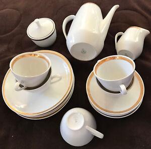 cp colditz porzellan kaffee service 22tlg goldrand ebay. Black Bedroom Furniture Sets. Home Design Ideas