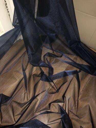 "Décoration Robe tissu large 58/"" 3 mètres bleu marine Organza Voile Mariage Rideau"