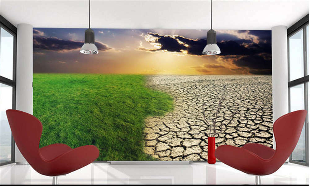 Old Empty Grassland 3D Full Wall Mural Photo Wallpaper Printing Home Kids Decor