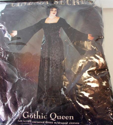 Gothic Queen Adult Costume 4-6 8-10 NIP